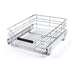 Seville Classics 14 in W x in D, Pull-Out Sliding Steel Wire Cabinet Organizer - The Home Depot Kitchen Pantry Storage, Kitchen Organization, Storage Organization, Pantry Baskets, Kitchen Pull Out Drawers, Pull Out Cabinet Drawers, Drawer Cart, Sliding Drawers, Organizing Tips