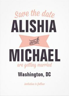 #Save_the_Date cute vintage white and pink wedding invitations.