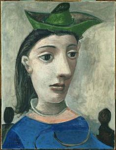 Pablo Picasso, Woman with Green Hat, 1939. Oil on canvas, 25 5/8 x 19 3/4 in. The Phillips Collection, Washington, D.C. Gift of the Carey Walker Foundation, 1994.