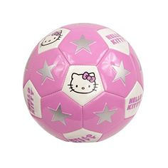 When you're heading off to practice, don't forget your Hello Kitty soccer ball. The Hello Kitty Sports soccer ball features man-made material. Its Hello Kitty d Hello Kitty Merchandise, Hello Kitty Crochet, Biscuit, Girls Soccer, Sports Toys, Soccer Sports, Soccer News, Mode Shop, Dream Baby