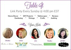 Join us for the Table It Link Party every Sunday at 4PM ET - tons of great decor ideas, design tips, diy and recipes - New House New Home