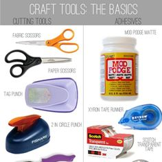 Beginning crafter? Or need a refresher? Read all about the basic craft tools you need to get started.