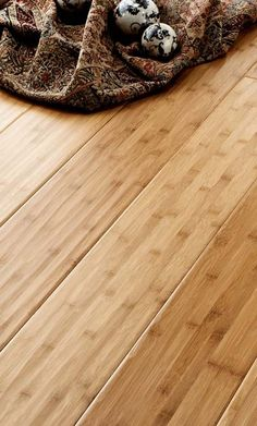Bamboo floors  Love the hand carved look
