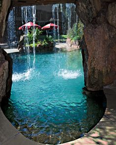 Fun Reasons To Own Luxury Swimming Pools – Pool Landscape Ideas Luxury Swimming Pools, Luxury Pools, Dream Pools, Grotto Pool, Lagoon Pool, Cave Pool, Pool Waterfall, Modern Pools, Beautiful Pools
