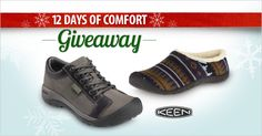 Today's the last day of our 12 Days of Comfort giveaway!  The KEEN motto is create, play, care. It's a way of life that the company calls HybridLife—a commitment to designing durable footwear with traction and toe protection that helps customers play with peace of mind. Enter to win a pair of KEEN shoes on the FootSmart Facebook page.