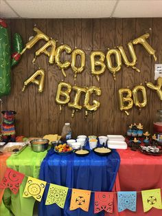TACO BOUT A BIG BOY fiesta themed first birthday!