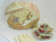 Downton Abbey Theme Teapot Cozy Hand Made by SarahYsCottage