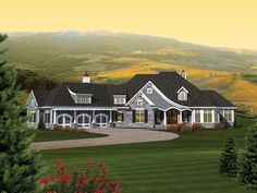 Ranch House Plan with 3109 Square Feet and 2 Bedrooms from Dream Home Source | House Plan Code DHSW076033