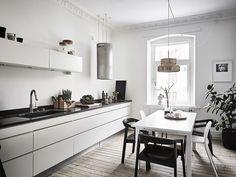 Wood floor kitchen dining room