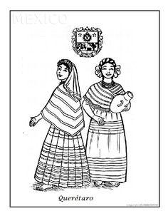 Dibujos para colorear trajes típicos mexicanos | Jugar y colorear