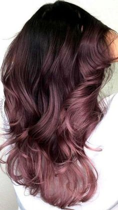 """This spring, we're seeing so many fun hair color options for brunettes—from pink to an earthy shade of """"mushroom."""" This is Dusty Lavender by This spring, we're seeing so many fun hair color options for brunettes—from pink to an earthy shade of """"mushroom. Spring Hairstyles, Pretty Hairstyles, Messy Hairstyles, Hairstyle Ideas, Wedding Hairstyles, Scene Hairstyles, Blonde Hairstyles, Elegant Hairstyles, Formal Hairstyles"""
