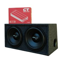 CT Sounds 2.0 Dual 12 Inch Subwoofer Bass Package in Ported Box with Amplifier