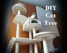 Cats Toys Ideas - DIY Cat Tree House - Ideal toys for small cats Cat Tree House, Cat Tree Condo, Cat Condo, Diy Cat Tower, Cat Tree Plans, Cat Climber, Huge Cat, Cat Activity, Ideal Toys