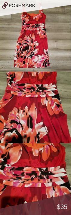 Bisou Bisou Michele Bobot Dress Size 8 Bisou Bisou Michele Bobot Dress. Floral print. Size 8. Beautiful l. Excellent condition Bisou Bisou Dresses Midi