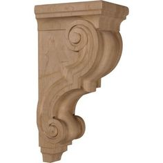 "Ekena Millwork 14""H x 5""W x 6 3/4""D Large Traditional Wood Corbel in Hard Maple"