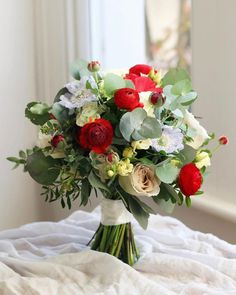 51 Gorgeous Summer Wedding Bouquets ❤ gorgeous summer wedding bouquets red roses with greens flowersbyeve #weddingforward #wedding #bride Summer Wedding Bouquets, White Wedding Bouquets, Red Wedding, Wedding Table, Wedding Dresses, Wedding Bride, Summer Flowers, Red Roses, Floral Arrangements
