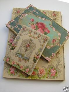 Michal Negrin Design Special Hard Cover Notebook Set 3 Sizes Vintage Stationery | eBay