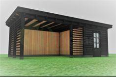 Veranda Excellent DIY kit with storage made to measure. Veranda Excellent DIY kit with storage Backyard Storage Sheds, Backyard Sheds, Backyard Patio Designs, Pergola Patio, Backyard Landscaping, Modern Pergola, Gazebo, Outdoor Garden Rooms, Terrace Garden