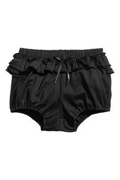Dżersejowe majtki z falbanami - Ciemnoszary - Dziecko | H&M PL 1