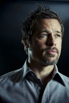 I've always thought brad pitt had the perfect mouth for a goatee.