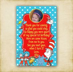 Dr Seuss and Pals Photo  Birthday or Baby Shower by FourLeafPrints, $13.00