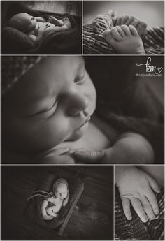 black and white newborn photograpy - newborn baby features with macro lens