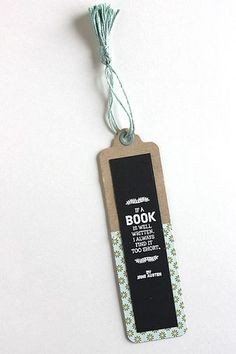 Well Written Book Bookmark by Heather Nichols for Papertrey Ink (July 2015)