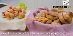 Brioches al gianduia arancia speck e pomodoro ricetta Maria Chiara da Bake Off Italia | Cucina in tv