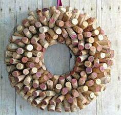 Prima Idee für einen #Wein #Korken #Türkranz!