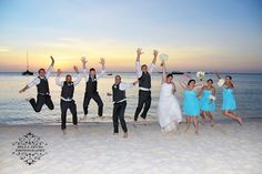 Let the party begin Hyatt Regency Aruba. This bridal party were awesome.  #bellarubaphotography @bellaruba #arubaweddings #intimatewedding  #destinationwedding #aruba #underthearubaskies  #arubasunsets #bridalparty