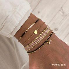 Bead Loom Bracelets, Woven Bracelets, Cute Bracelets, Ankle Bracelets, Embroidery Bracelets, Seed Bead Jewelry, Bead Jewellery, Cute Jewelry, Beaded Jewelry
