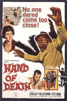 Hand of Death (1962)Stars: John Agar, Paula Raymond, Stephen Dunne, Roy Gordon, John A. Alonzo, Joe Besser, Butch Patrick, Jack Donner ~  Director: Gene Nelson
