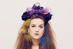Floral crown with bird