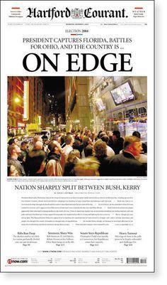 - Hartford Courant  http://www.smashingmagazine.com/2008/02/11/award-winning-newspaper-designs/