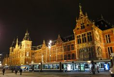 Amsterdam Central Station. One of the most gorgeous buildings in Amsterdam.