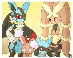 """coolblaine: """"I always enjoy shipping certain Pokémon, Lucario and lopunny is one of my favorite Pokemon ships. Pokemon Ships, Pokemon Fan Art, Cool Pokemon, Pokemon Stuff, Lucario Pokemon, Pikachu, Best Pokemon Ever, Warrior Cat Drawings, Nintendo Characters"""