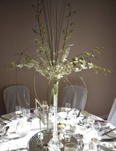 Wild flowers and branches in Eiffel Tower vase...with bear grass