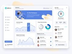 Analytics Dashboard App by YesYou Studio on Dribbble Dashboard Ui, Dashboard Design, Ui Ux Design, Interface Design, Sales Dashboard, Wireframe Design, Web And App Design, Design Websites, Flat Ui