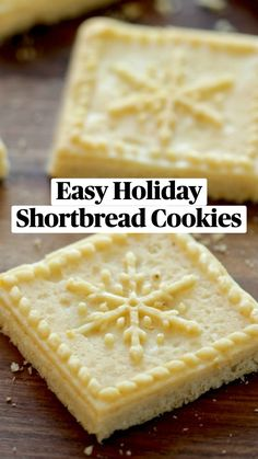 Holiday Cookies, Holiday Baking, Christmas Desserts, Shortbread Cookies, Yummy Cookies, Cookie Recipes, Dessert Recipes, Biscotti, Sweet Recipes