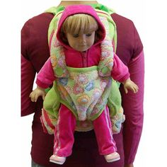 Queens Treasures 18 in. Doll Childs Backpack with Doll Carrier and Doll Sleeping Bag Pink