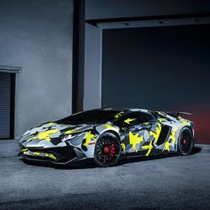 Camo! | Photo by @954mm | #blacklist #lamborghini #aventador