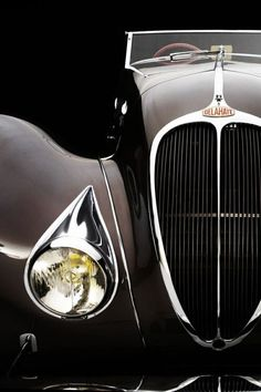 1937 Delahaye Roadster Maintenance/restoration of old/vintage vehicles… Retro Cars, Vintage Cars, Antique Cars, Alfa Romeo, Hot Cars, Exotic Cars, Motor Car, Jaguar, Cars And Motorcycles