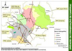 Mapa de áreas protegidas - unidades de conservação do Município de Campinas