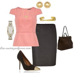"""Pink n Brown Chic"" by lisa-eurica on Polyvore"