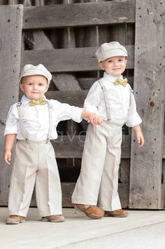 Ring Bearer outfit brown vintage wedding Newsboy von JetsandLilys