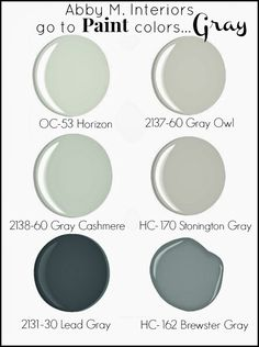 """Abby M. Interiors: My """"Go To"""" Paint Colors...Gray"""