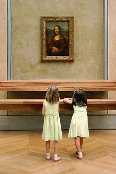 Musée du Louvre, Paris.  Being me, tho, I at first thought these were the two elevator girls from The Shining.:
