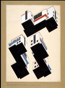 BauhausBauhaus Series 02    Alfred Arndt, color plans for the exterior design of the master-detached houses in Dessau, (architect Walter Gropius), 1926.