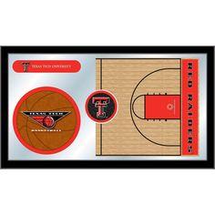 Texas Tech Red Raiders Basketball Court Mirror Wall Art