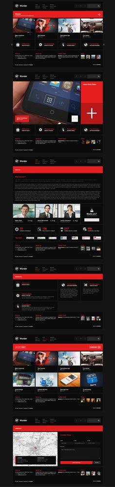 Wunder  |  Responsive, Corporate, Wordpress Template  |  themeforest  |  http://www.wunder.umbrella.al/dark/